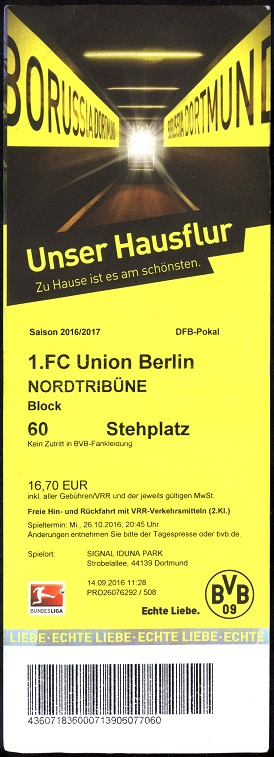union dortmund tickets